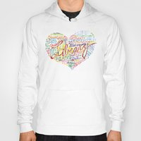 library Hoodies featuring Library Heart by Rhymes With Magic Art