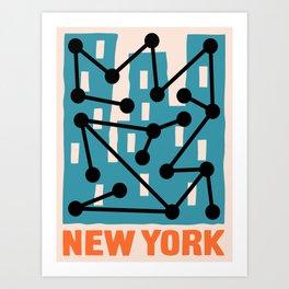 New York Composition 2 Art Print