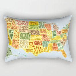 United States of America Map Rectangular Pillow