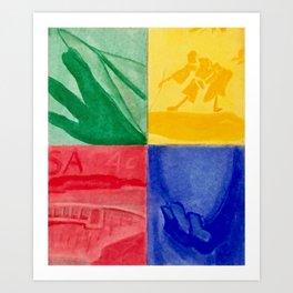 By Hand Art Print