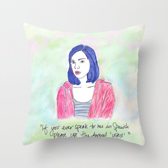 April Ludgate 2 Throw Pillow