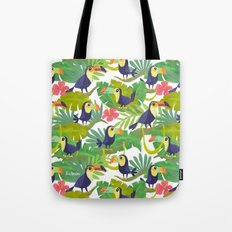 Toucan Paradise Pattern Tote Bag