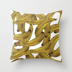 Retro Banana Pop Art Throw Pillow