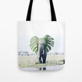 Monstera Elephant Tote Bag