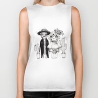 day of the dead Biker Tanks featuring Day of the Dead by Mono Ahn