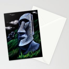 Easter Island Heads Stationery Cards