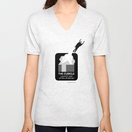 THE CUBICLE: Launch Pad of the Dreamer Unisex V-Neck