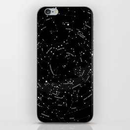 Constellation Map - Black iPhone Skin