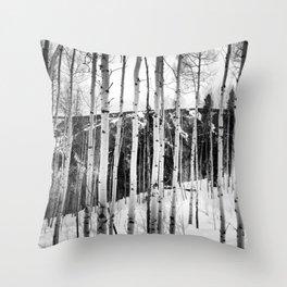 Aspen See Throw Pillow