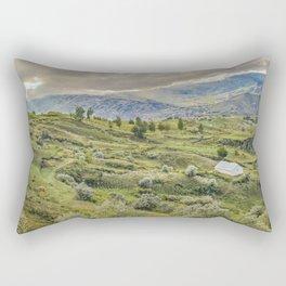Andean Rural Scene at Quilotoa Town, Ecuador Rectangular Pillow