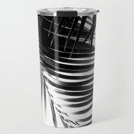Palm Leaves Black & White Vibes #1 #tropical #decor #art #society6 Travel Mug
