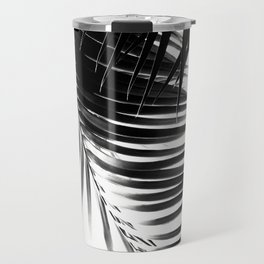 Palm Leaves Black & White Vibes #1 #tropical #decor #art #society6 Travel Mug