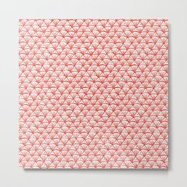 Shell pattern in pink and red Metal Print
