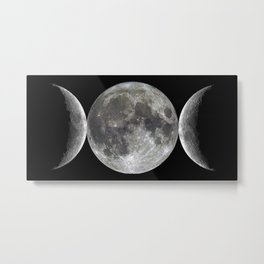 Triple goddess   Moon   Moons   Goddess and God Metal Print
