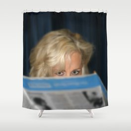 Girl With Umbrella Shower Curtain