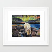 northern lights Framed Art Prints featuring Northern Lights by Michael Creese