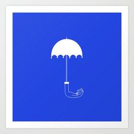 imagination_umbrella_blue Art Print