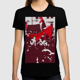 Black and red T-shirt