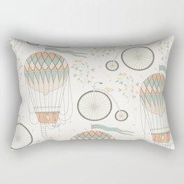 Hot Air Balloons and Unicycles Rectangular Pillow