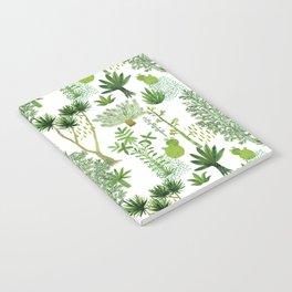 Green jungle pattern Notebook