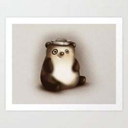 Panda Sailor - The Hat Parade Art Print