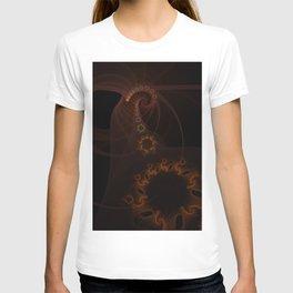 Orange fractal T-shirt