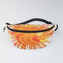 Retro Swirl Boom Design Fanny Pack