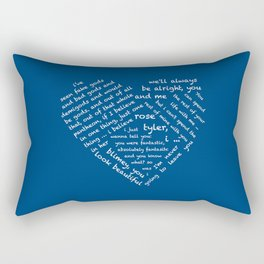 Quotes of the Heart - Doctor/Rose (White Rectangular Pillow