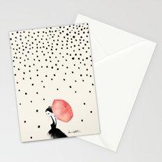 Polka Rain Stationery Cards
