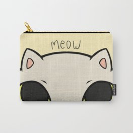 Meow - Yellow Carry-All Pouch