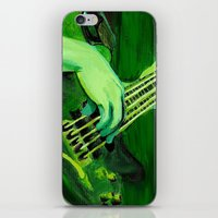bass iPhone & iPod Skins featuring Bass by Juliana Marie