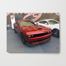 Octane Candy Aplle Red Challenger Hellcat color photograph / photography / poster Metal Print
