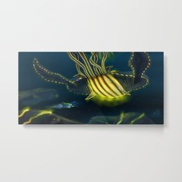 Deep Sea Encounter Metal Print