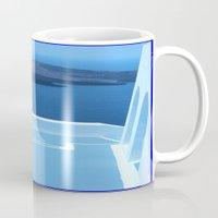 greek Mugs featuring Greek Holiday by Brian Raggatt