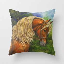 Sorrel Horse with Light Mane Throw Pillow