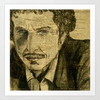 Dylan, the Poet Art Print