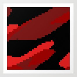 Black and Red abstract Art Print
