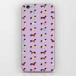 Dachshund - Purple Sweaters #251 iPhone Skin