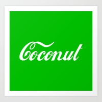 coconut wishes Art Prints featuring Coconut by Tshirtbaba