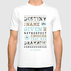 Destiny White SMALL Mens Fitted Tee
