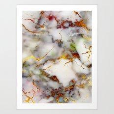 Marble Effect #5 Art Print