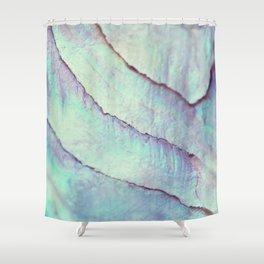 IRIDISCENT SEASHELL MINT by Monika Strigel Shower Curtain