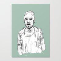 liam payne Canvas Prints featuring Liam Payne  by Cécile Pellerin