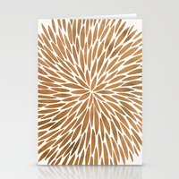 rose gold Stationery Cards featuring Rose Gold Burst by Cat Coquillette