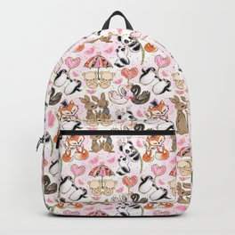 Lovely animal couples Backpack