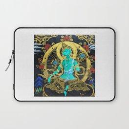 Thang-ga of Green Tara Laptop Sleeve