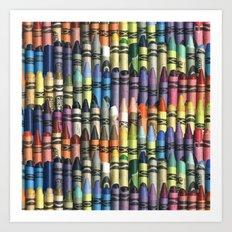 neverending box of crayons Art Print