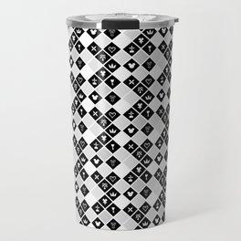 Kingdom Hearts III - Pattern - White Travel Mug