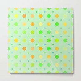 Light Green Dots Pattern Metal Print