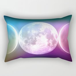 Moon Triple Goddess Rainbow Rectangular Pillow